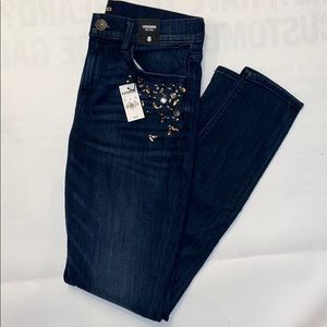 Express Mid Rise Jean Legging with jewels NWT